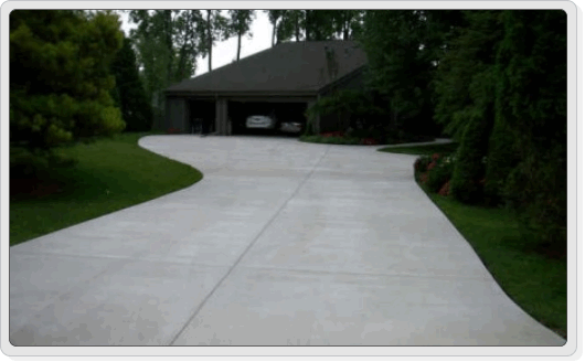 Broom Finisged Concrete Driveways Pations Courtyards