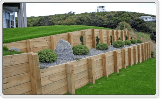 Timber Retaining Wall Construction Company Auckland