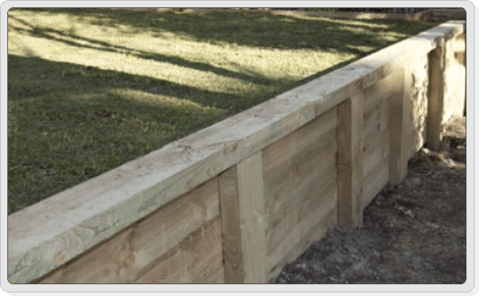 Timber Retaining Wall Design Home Design Ideas
