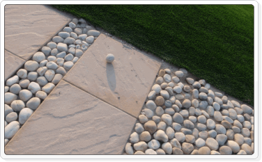 pathway and pebbles