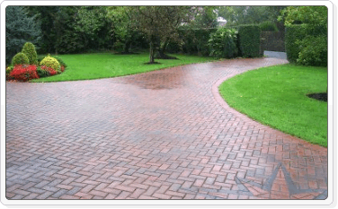 large drivways in pavers